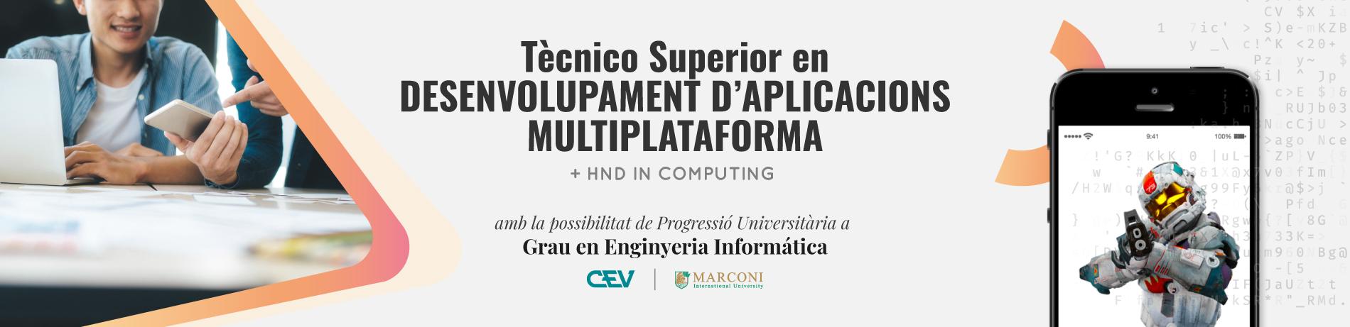 Tècnic Superior en Desenvolupament d'Aplicacions Multiplataforma a Distància
